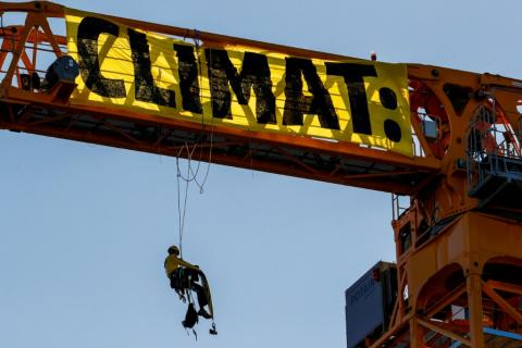 Greenpeace Protesters At Shell Plant Call Out Oil Companies For 'Greenwashing'