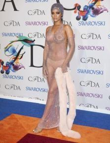 Rihanna S Cfda Sheer Silver Dress Made Her A Fashion Icon Winner Five Facts About The Dress Photos