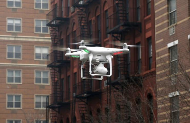 A Camera Drone Flown By Brian Wilson Flies Near The Scene Where Two Buildings Were Destroyed In An Explosion, In The East Harlem Section In New York City