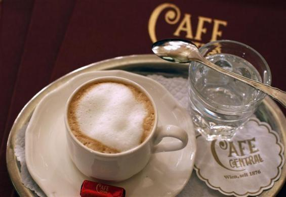 Coffee is seen at the Viennese coffee house (Wiener Kaffeehaus) Central in Vienna November 10, 2011.