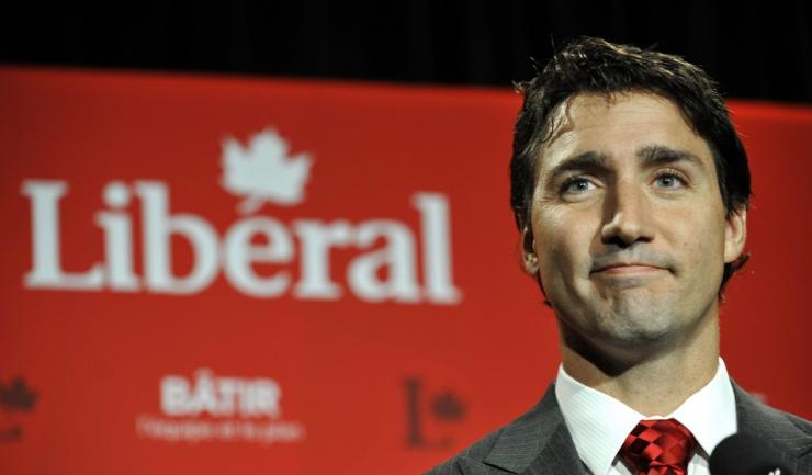 Liberal leader Justin Trudeau speaks to the media during the Federal Liberal summer caucus meetings in Edmonton