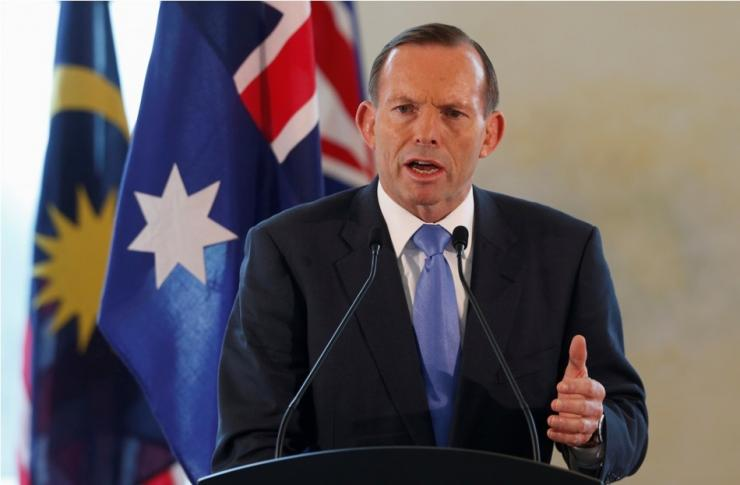 Australian Prime Minister Tony Abbott During An Official Visit To Putrajaya, Malaysia