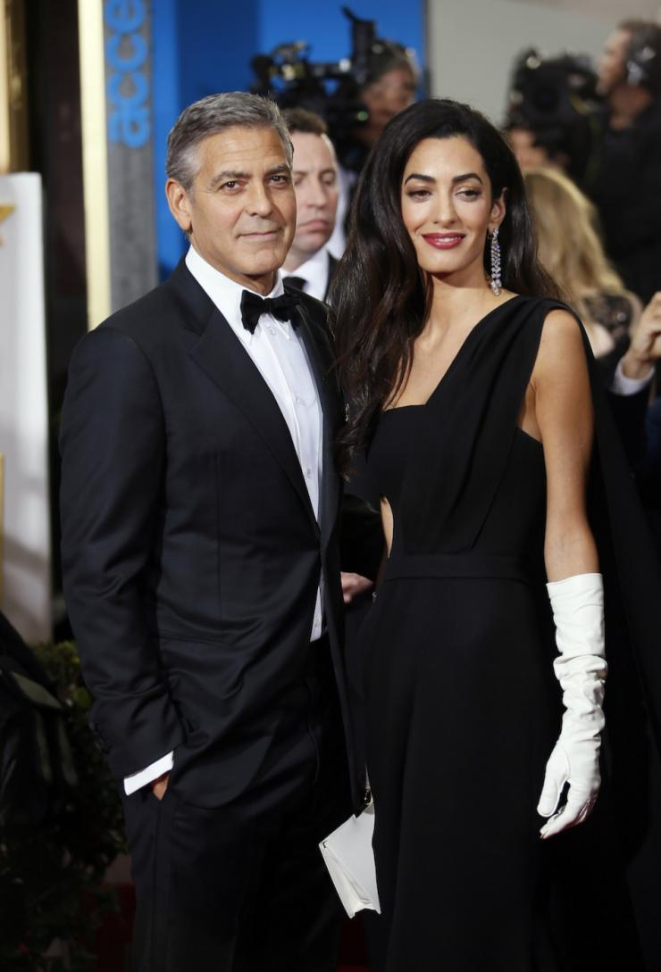 Actor george clooney and wife amal clooney arrive at the 72nd golden