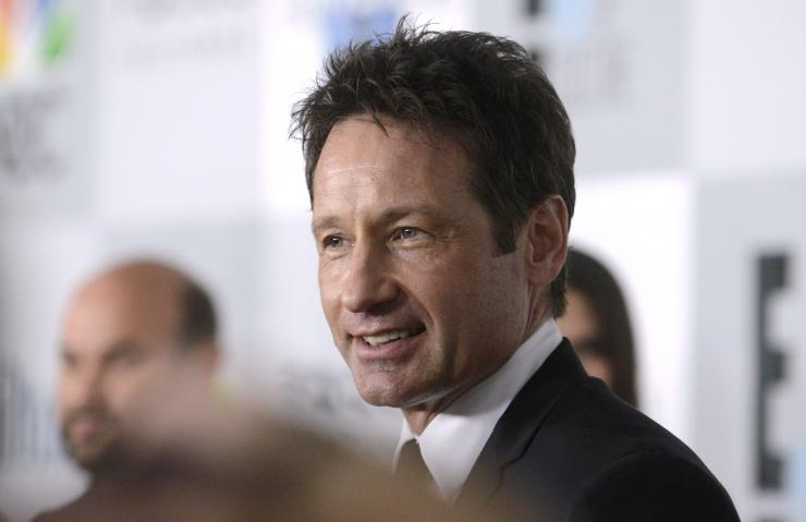 Actor David Duchovny attends NBC Universal's after party at the 72nd Golden Globe Awards in Beverly Hills, California January 11, 2015.
