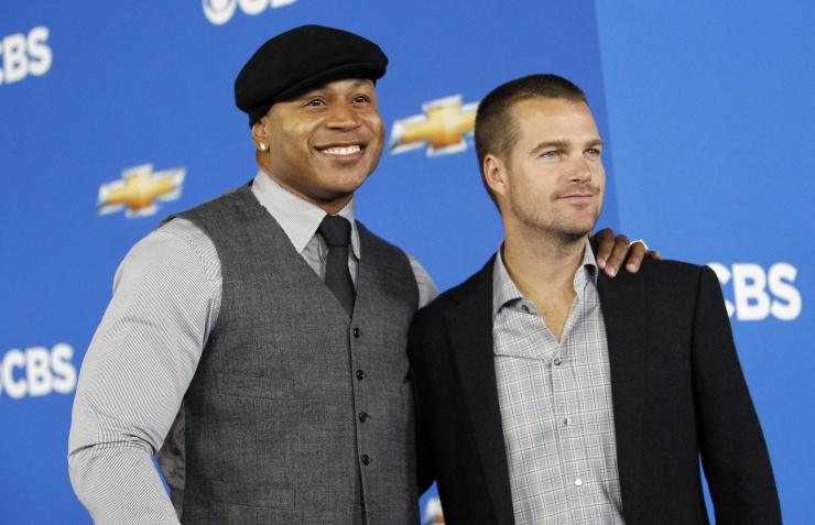 NCIS: Los Angeles Season 8 Actors Chris O'Donnell (R) and LL Cool J