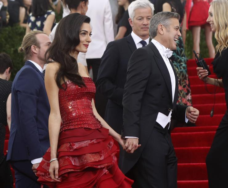 [07:49] George Clooney and wife Amal Clooney arrive at the Metropolitan Museum of Art Costume Institute Gala 2015