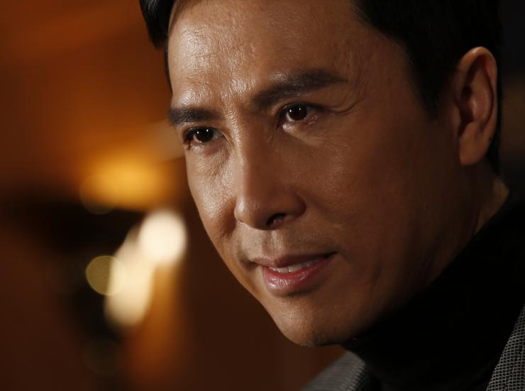 Hong Kong actor Donnie Yen attends a news conference announcing the 8th Asian Film Awards.