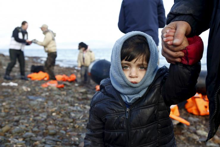 Syrian refugee child arrives safely in Greece