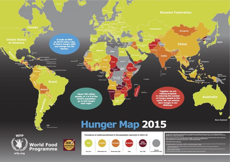 The Real Hunger Games: Hunger Map shows where the 795 ...