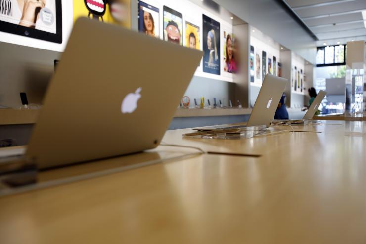 MacBook Air laptops are pictured on display at an Apple Store in Pasadena July 22, 2013.