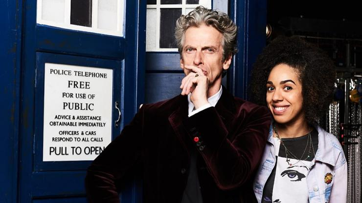 "Peter Capaldi and Pearl Mackie as the Doctor and new companion Bill in ""Doctor Who"""