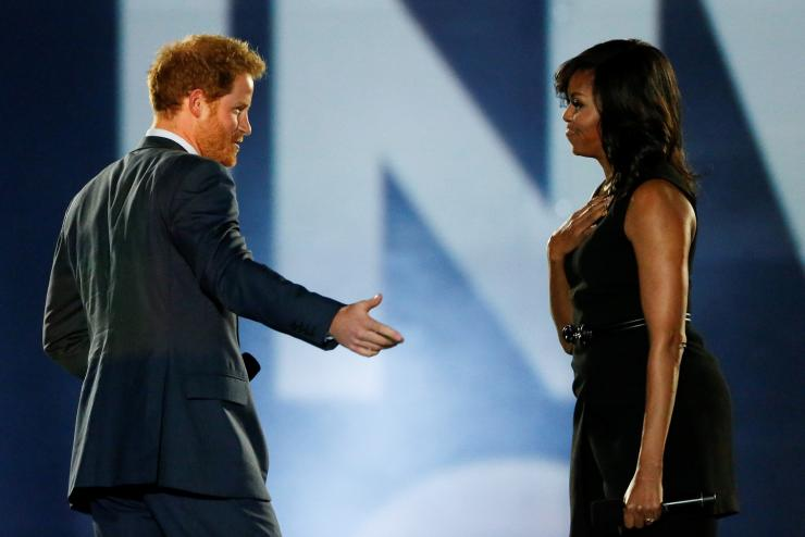 Prince Harry and Michelle Obama at the Invictus Games