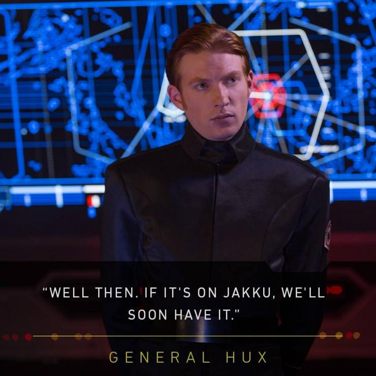 "A picture of Domhnall Gleeson as General Hux in ""Star Wars: The Force Awakens."""
