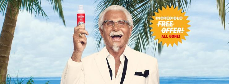 KFC sunscreen limited offer in the US