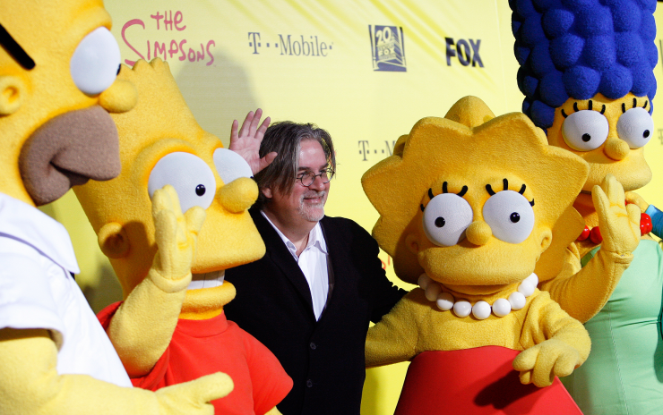 Matt Groening (C), creator of The Simpsons