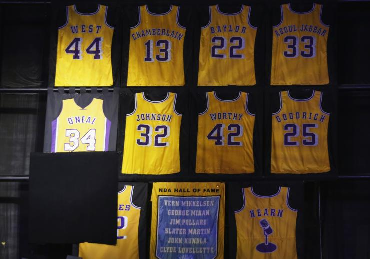 a50b499e530f Kobe Bryant jersey retirement  Both numbers likely to be retired by Lakers