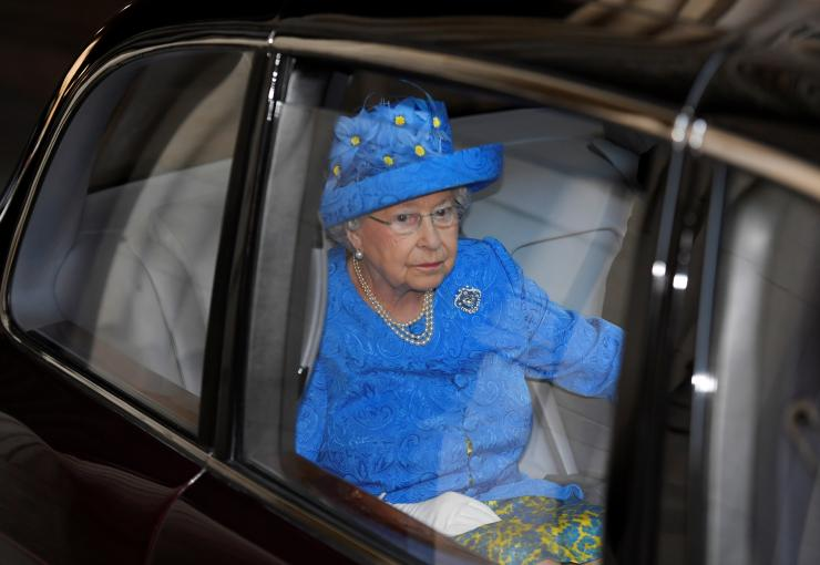 Britain's Queen Elizabeth's leaves the State Opening of Parliament in central London, Britain June 21, 2017.