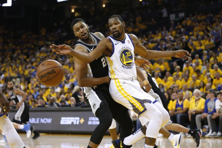 warriors vs spurs kevin durant