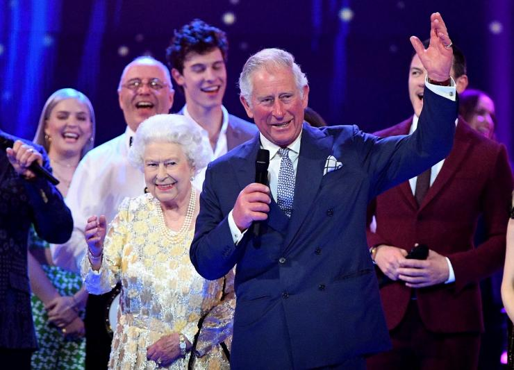 "Britain's Prince Charles speaks during a special concert ""The Queen's Birthday Party"" to celebrate the 92nd birthday of Britain's Queen Elizabeth at the Royal Albert Hall in London, Britain April 21, 2018."