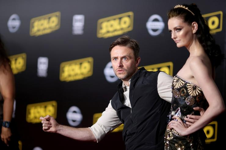 "Chris Hardwick and Lydia Hearst  attend the premiere for the movie ""Solo: A Star Wars Story"" in Los Angeles, California, U.S., May 10, 2018."
