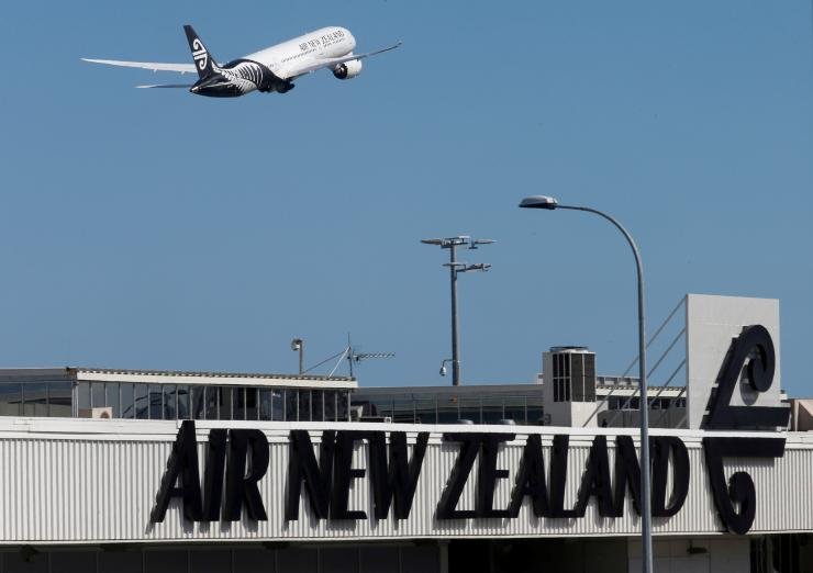 FILE PHOTO: An Air New Zealand Boeing Dreamliner 787 takes off from Auckland Airport in New Zealand,  September 20, 2017.