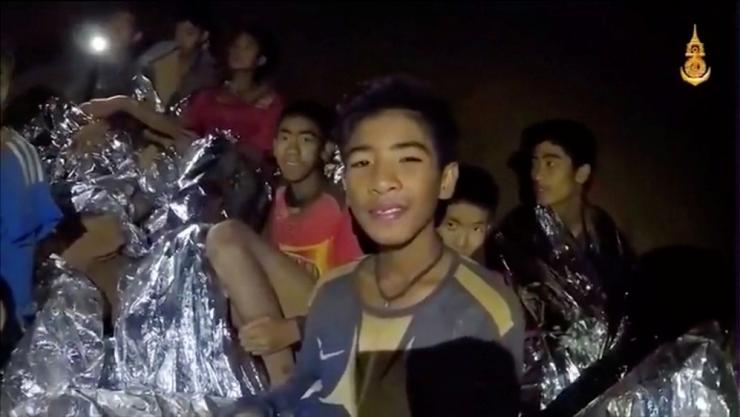 Boys from the under-16 soccer team trapped inside Tham Luang cave