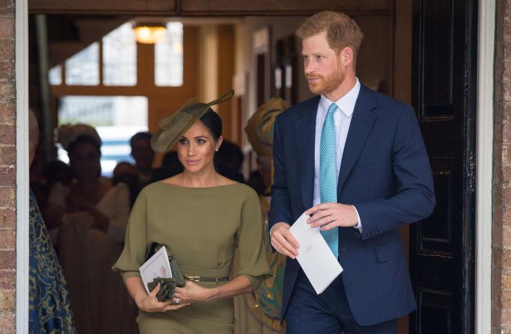Britain's Prince Harry and Meghan, the Duchess of Sussex