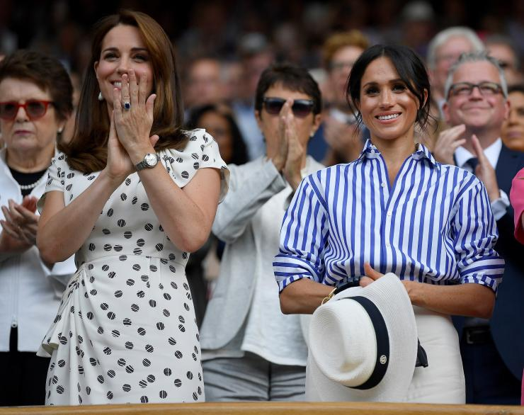 Catherine the Duchess of Cambridge and Meghan the Duchess of Sussex
