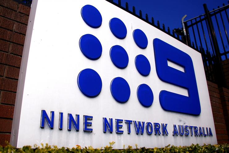The logo of Nine Entertainment Co Holdings Ltd can be seen on display outside their Sydney headquarters in Australia, July 26, 2018.
