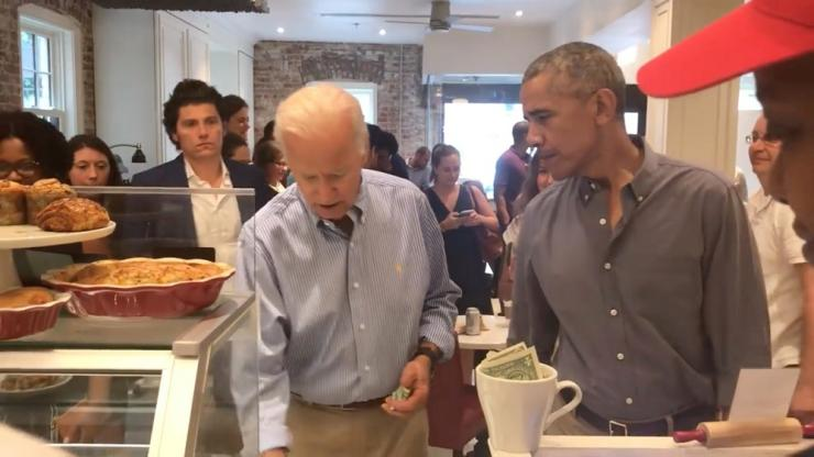 Former U.S. President Barack Obama and former Vice President Joe Biden