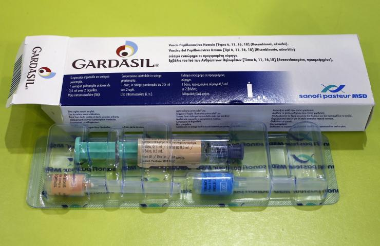 An illustration picture shows a Gardasil anti-cervical cancer vaccine box displayed at a pharmacy in Strasbourg November 25, 2013.