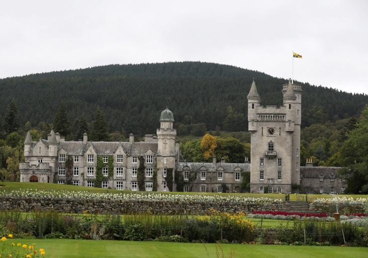 The Royal Standard flies over Britain's Queen Elizabeth's Balmoral Castle, in Scotland, September 20, 2017.
