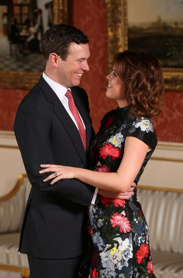 Britain's Princess Eugenie and Jack Brooksbank