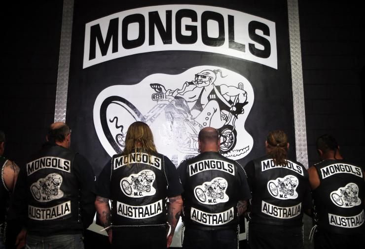 Members of the Mongols Motorcycle Club
