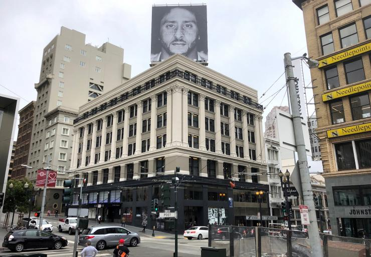Colin Kaepernick appears as a face of Nike Inc advertisement