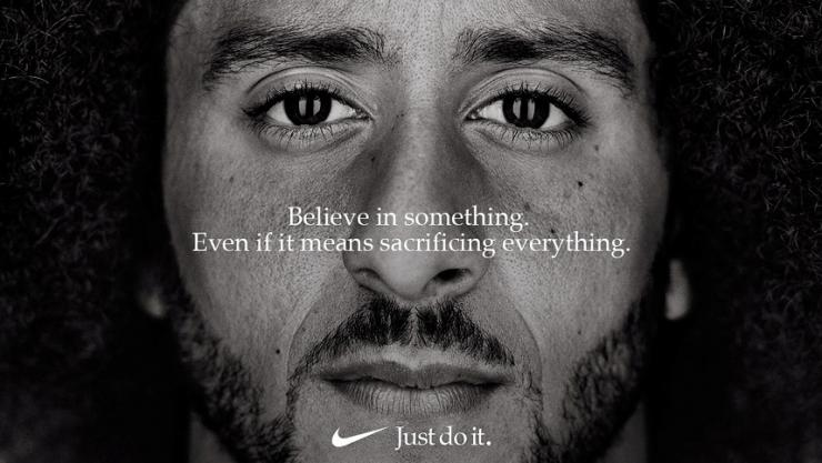 Former San Francisco quarterback Colin Kaepernick appears as a face of Nike Inc advertisement
