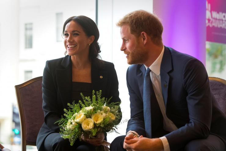 Britain's Prince Harry and Meghan, the Duke and Duchess of Sussex