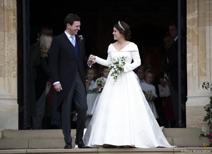 Jack Brooksbank and Princess Eugenie on their wedding day, October 12, 2018.