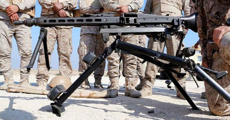 Machine gun saudi arabia forces