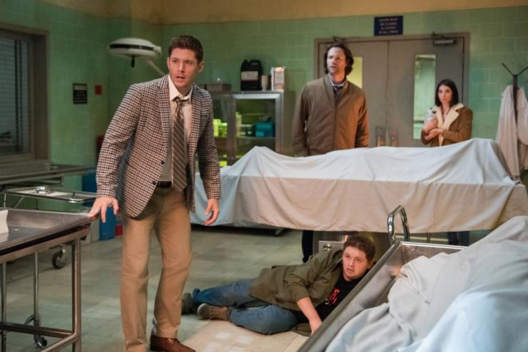 """Supernatural"" 14x04 ""Mint Condition"": Dean Winchester and Sam Winchester with Dirk and Samantha"