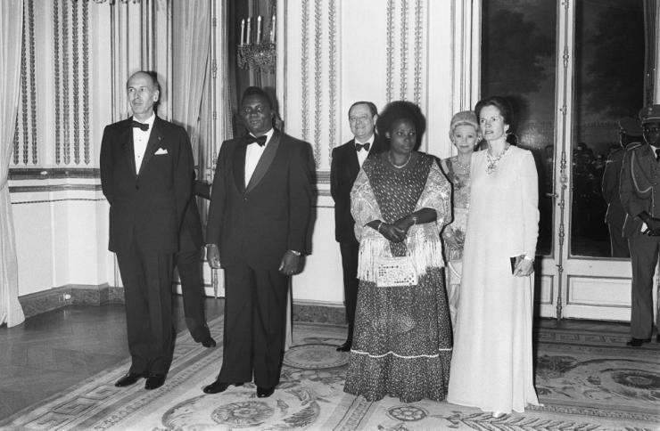 The genocide was sparked by the assassination president Juvenal Habyarimana (2ndL)