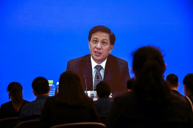 Zhang Yesui said China's parliament considered the move necessary