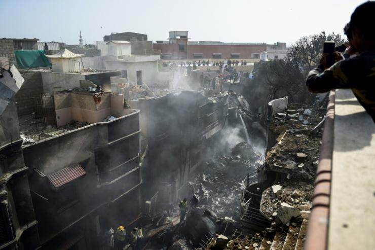 All but two of the 99 people on board the PIA plane were killed when it crashed into a Karachi residential neighbourhood