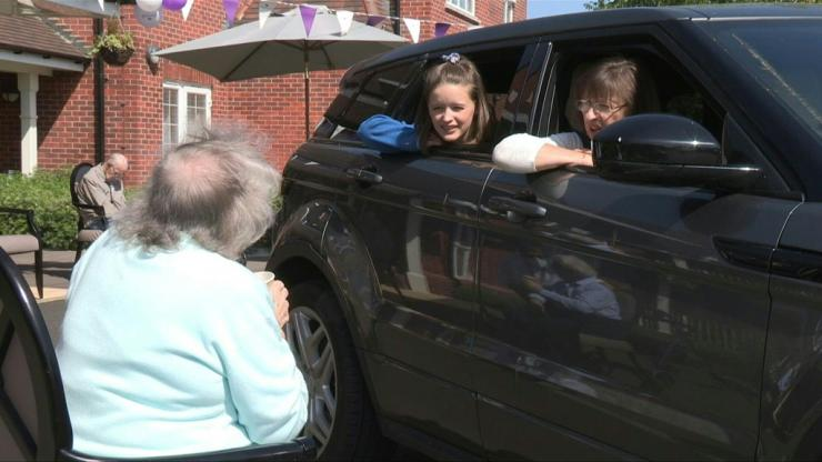A care home in Oxfordshire has opened a makeshift drive-through for family and friends of residents who have been unable to see their loved ones in person since March, when the lockdown came into effect across the United Kingdom