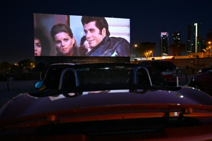 Drive-in theatres like this one in Madrid have enjoyed a resurgence in popularity in the coronavirus era because of the easy prospect for social distancing