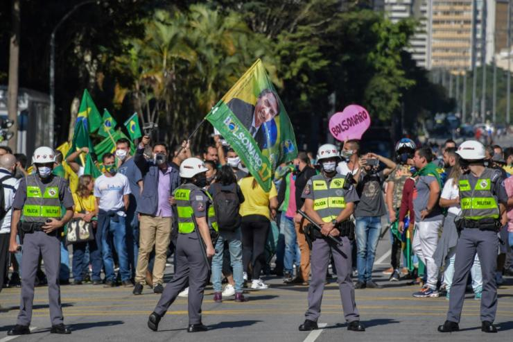 With more than half a million known infections, Brazil has the second-highest caseload in the world, but President Jair Bolsonaro again defied social distancing recommendations to meet supporters