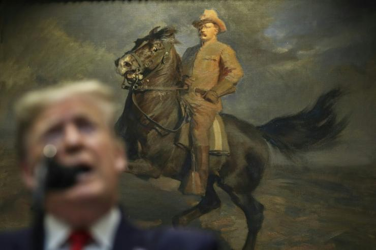 Donald Trump has criticized a decision to remove a statue of former president Theodore Roosevelt that many consider racist and colonialist