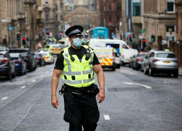 The fatal stabbing in Glasgow is not being being treated as a terrorist incident, Scottish police say