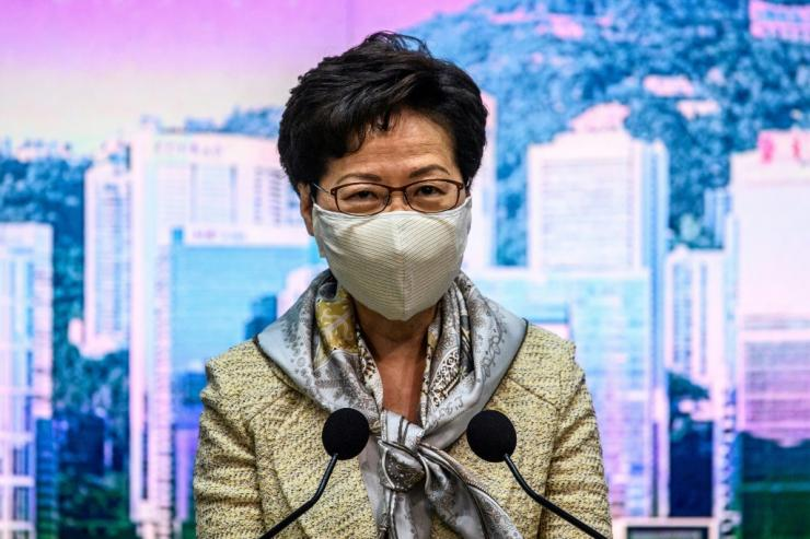 At her weekly press conference on Tuesday morning, Hong Kong leader Carrie Lam -- a pro-Beijing appointee -- declined to comment on whether the law had been passed or what it contained