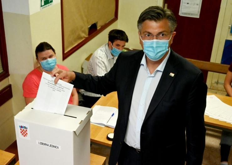 Prime Minister Andrej Plenkovic is hoping the uncertainty of the health crisis will inspire voters to stick with his HDZ, in power since 2016